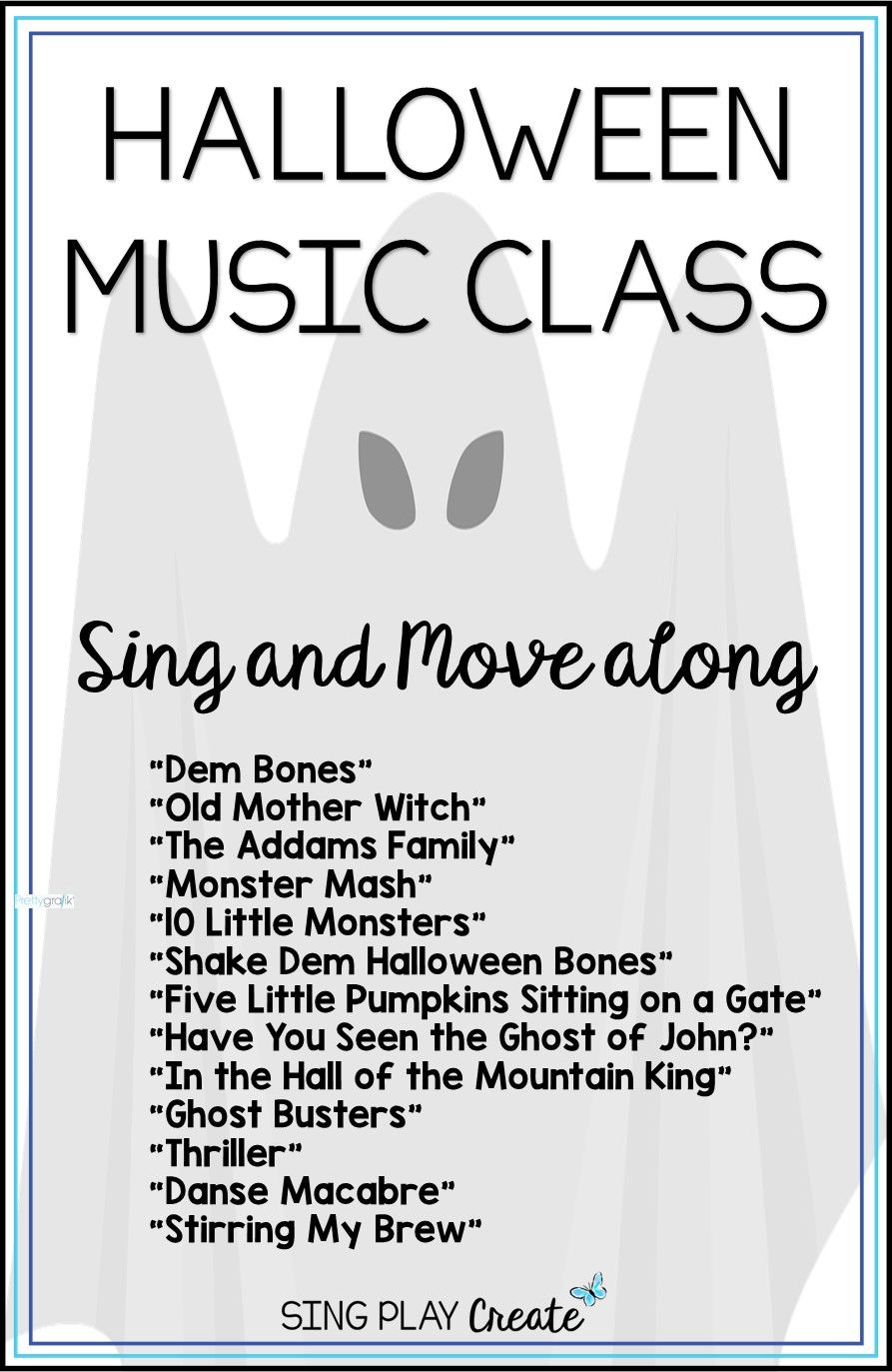 halloween music class sing and move-a-long - | halloween music