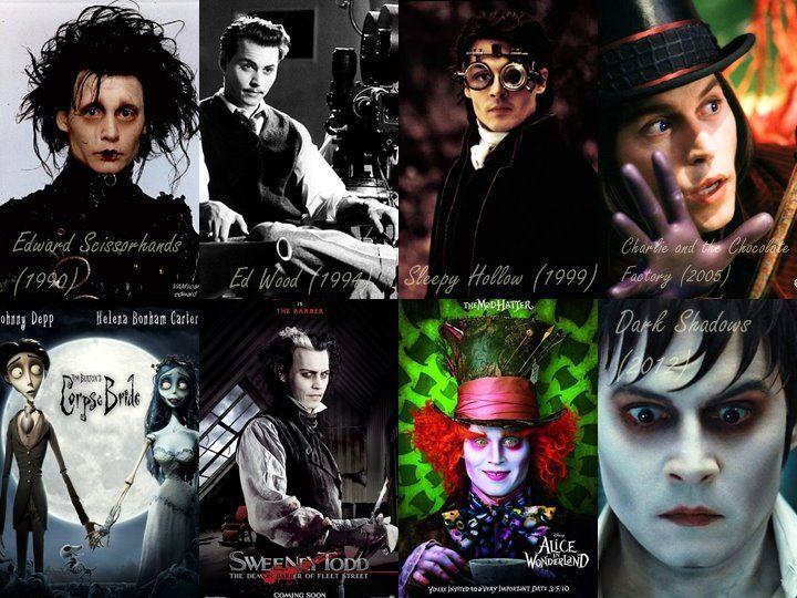 Juicio Herméticamente Metro  Johnny Depp's makeup when he play Tim Burton's films <3   Tim burton films, Tim  burton, Nightmare before christmas