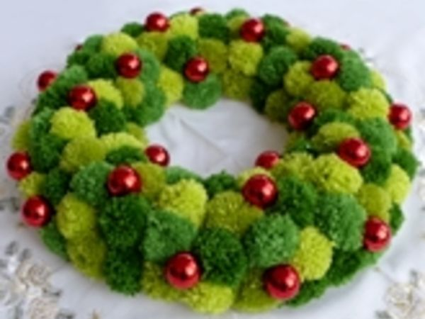 Photo of Free instructions DIY – Christmas wreath with pompons