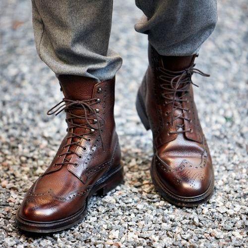 Bota Blucher Brogue | Style | Zapatos hombre moda, Zapatos y
