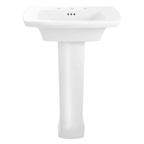 American Standard Edgemere 35 625 In H White Fire Clay Pedestal