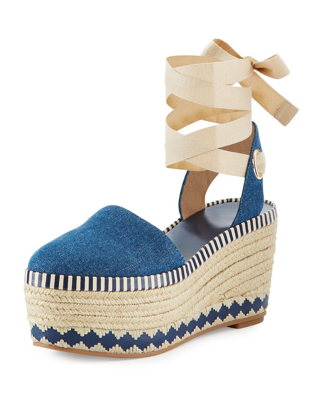54bc06a9316 Dandy Denim Espadrille Wedge Sandal Blue in 2019 | Outfits I looove ...