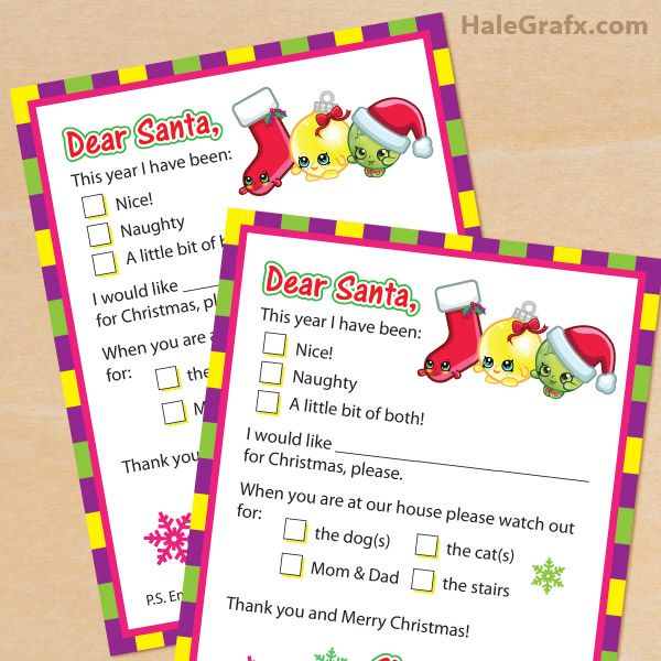 Free printable shopkins letter to santa claus shopkins pinterest free printable shopkins letter to santa claus spiritdancerdesigns Image collections