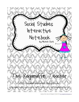 Social Studies Interactive Notebook Letter and Rubric
