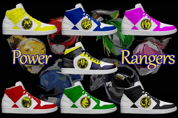 Women's Light Up Power Ranger Shoes by KickolasNage on Etsy