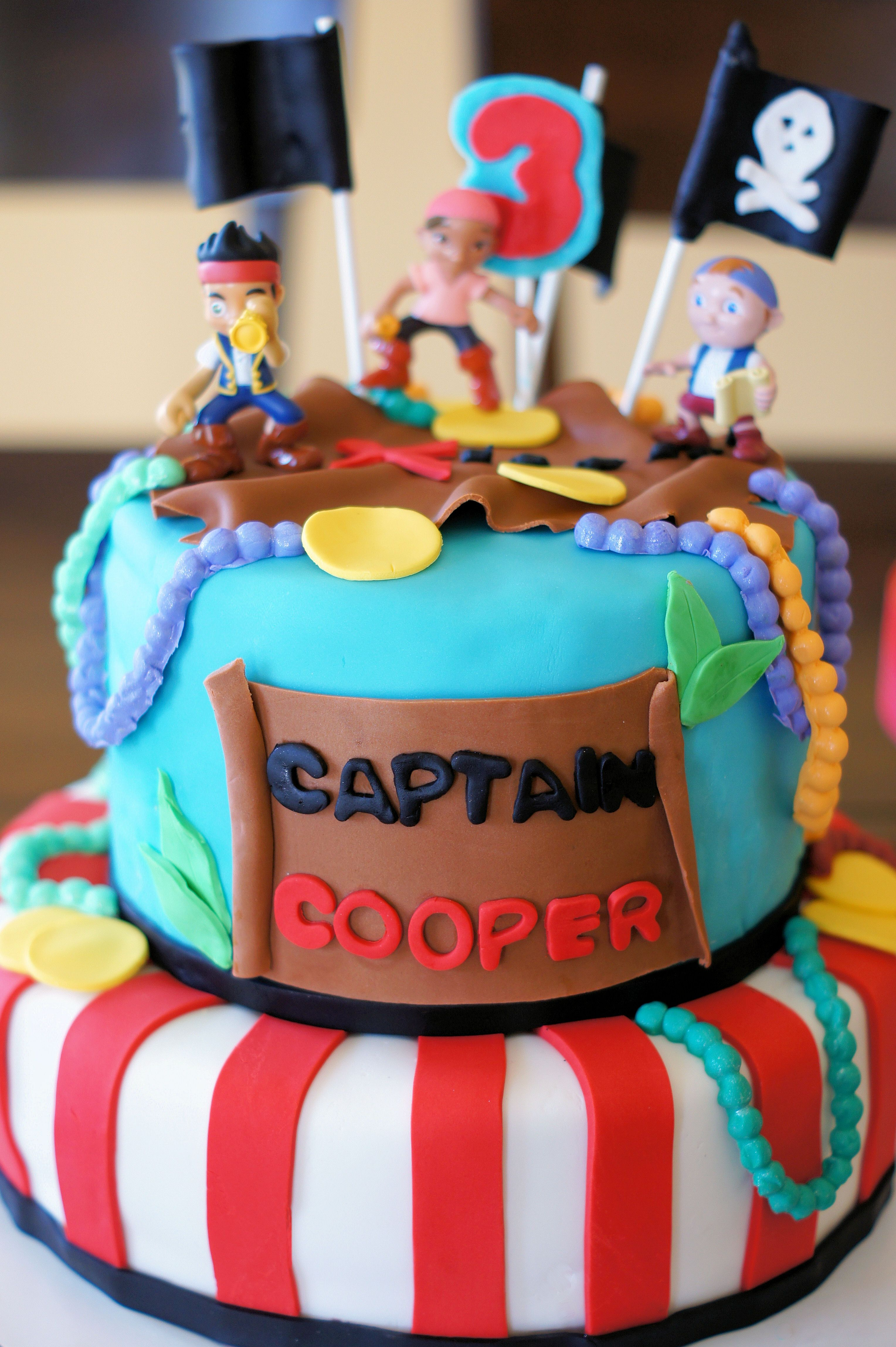 Jake And The Neverland Pirates Cake Cake Inspirations Pinterest