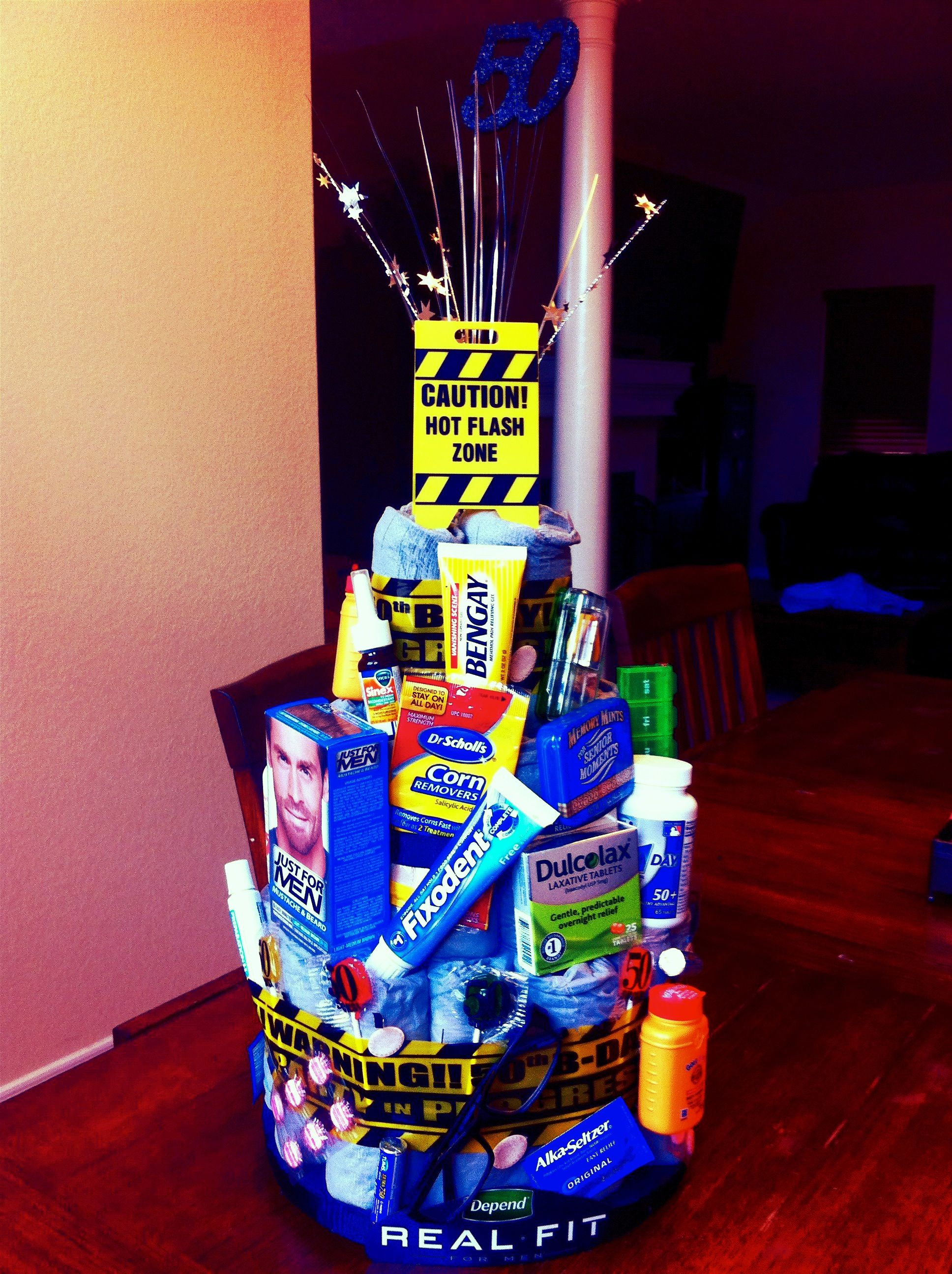 Depends Diaper cake for dad's 50th birthday!! Monnie