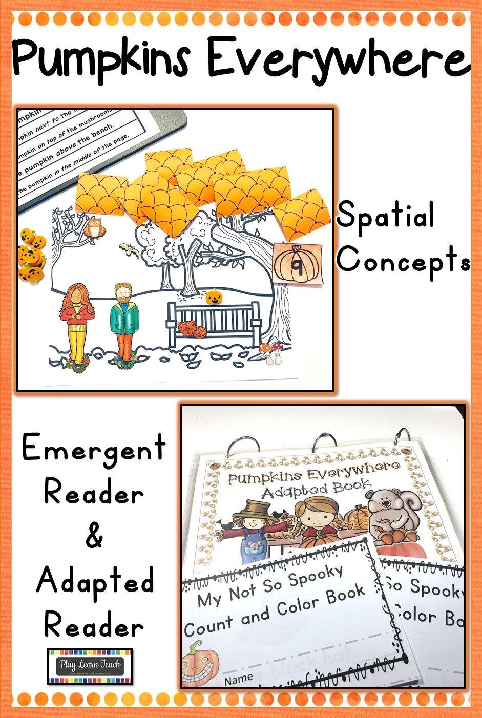 Pumpkins Adapted Reader Spatial Concepts Life Skills Curriculum Adapted Books [ 1402 x 941 Pixel ]