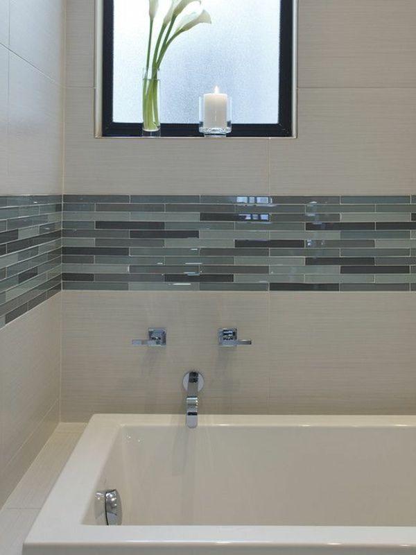 fliesengestaltung bad badezimmers fliesen kombinieren dekoideen ...