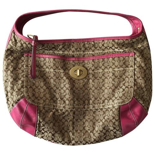 COACH HAMILTON HOBO BEIGE CLOTH HANDBAG bags