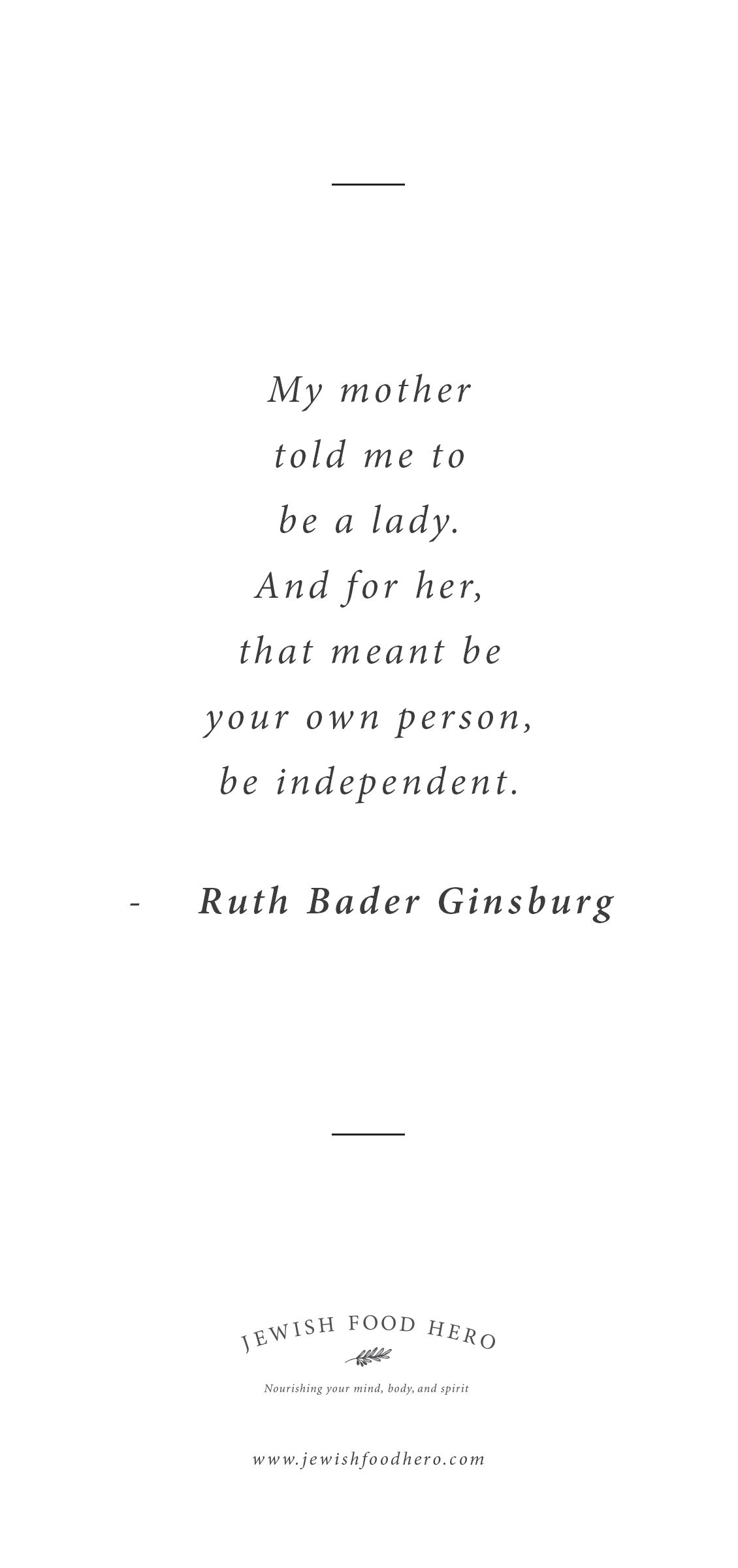 Jewish Love Quotes Ruth Bader Ginsburg Quotation  From Jewish Food Hero  Pinterest