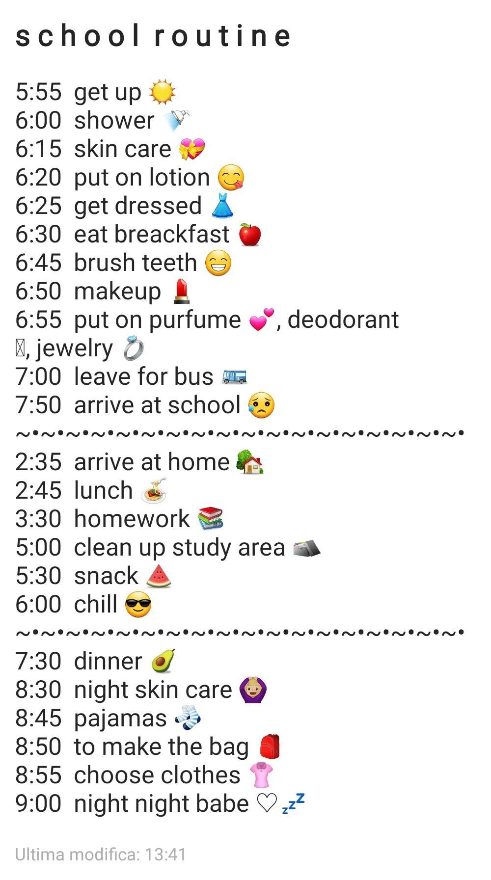 Photo of Daily routine for school