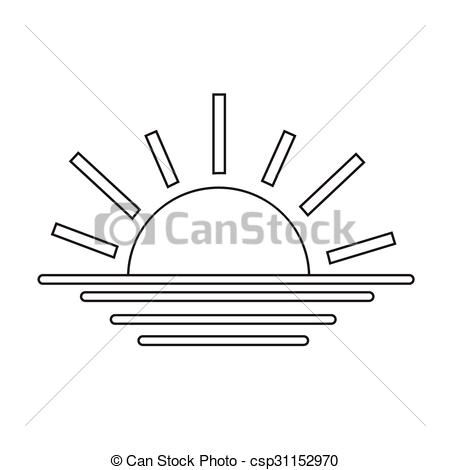 Vectors Illustration Of Sunrise Sunset Line Icon Csp31152970 Search Clipart Illustration Drawings And Eps Clip Art Graphics Line Icon Sunrise Sunset Icon