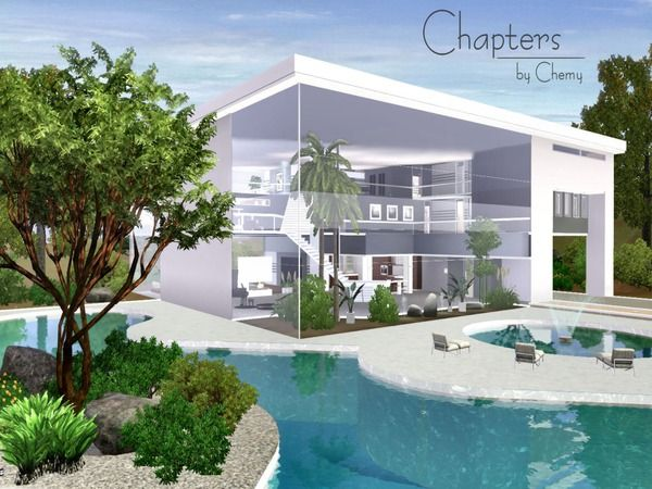 Chapters Modern Home By Chemy Sims 3 Downloads Cc Caboodle Sims House Sims Freeplay Houses Sims 4 Modern House