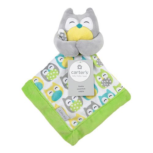 Carter's Grey Owl Security Blanket with Plush - Triboro Quilt Mfg ... : triboro quilt - Adamdwight.com