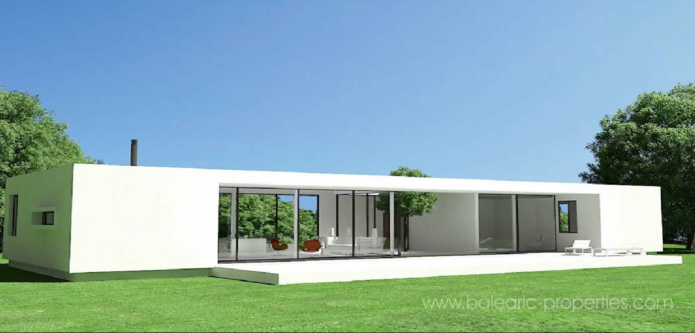 Single story contemporary villas google search ideas for Precast concrete home plans