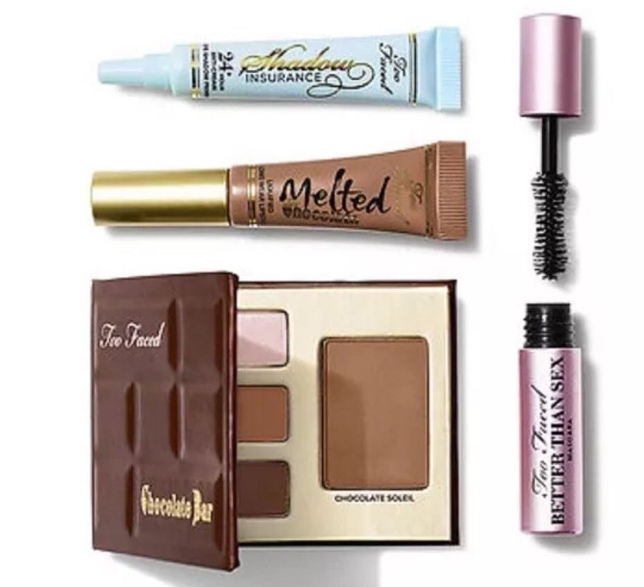 Too Faced Bite Sized Beauties Sample Set of 4 Chocolate Bar ...