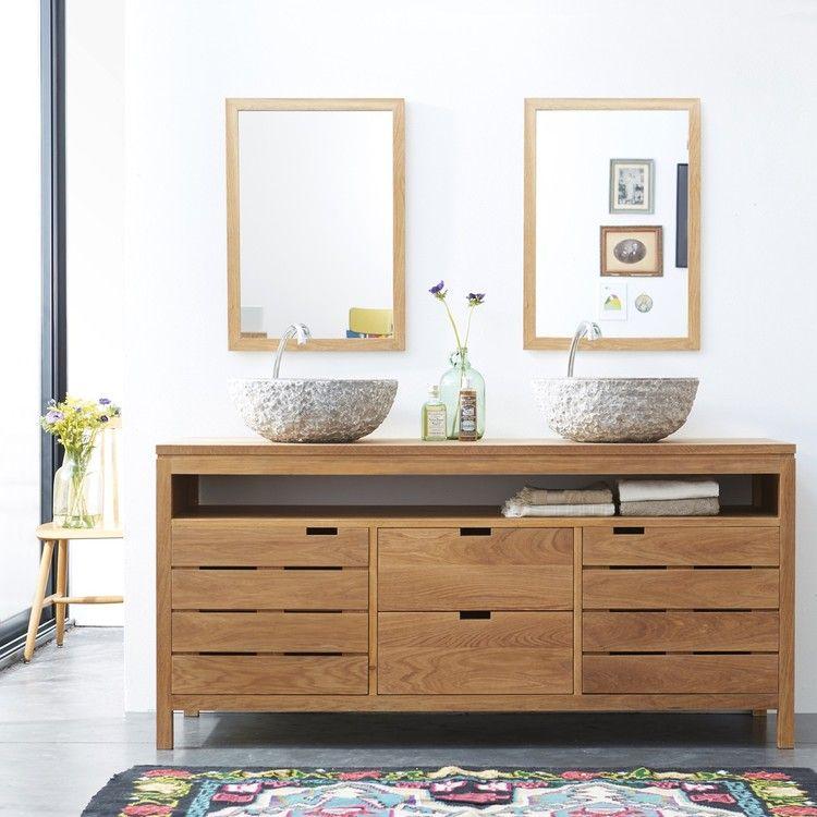 Meuble Salle de bain en chêne 165 Serena Oak - ikea meuble salle de bain godmorgon