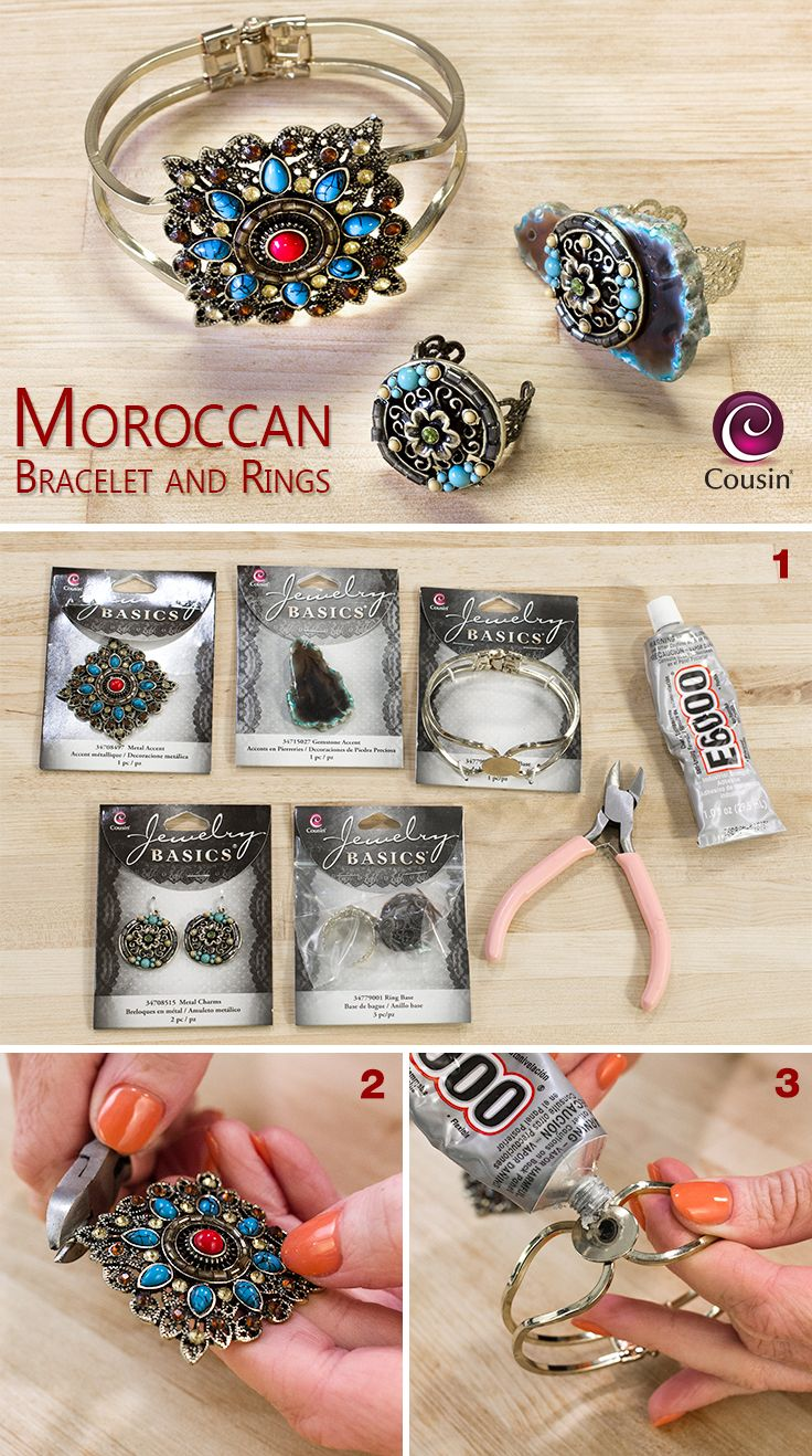 DIY jewelry - how to make your own bracelet and rings set ...