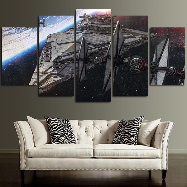 Star Wars Spaceship Destroyer Star Wars Canvas Panel Wall Art Panelwallart Com Star Wars Canvas Painting Star Wars Wall Art Star Wars Wall Art Canvases