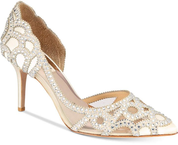 e932b9aa43ff Badgley Mischka Marissa Embellished Evening Pumps
