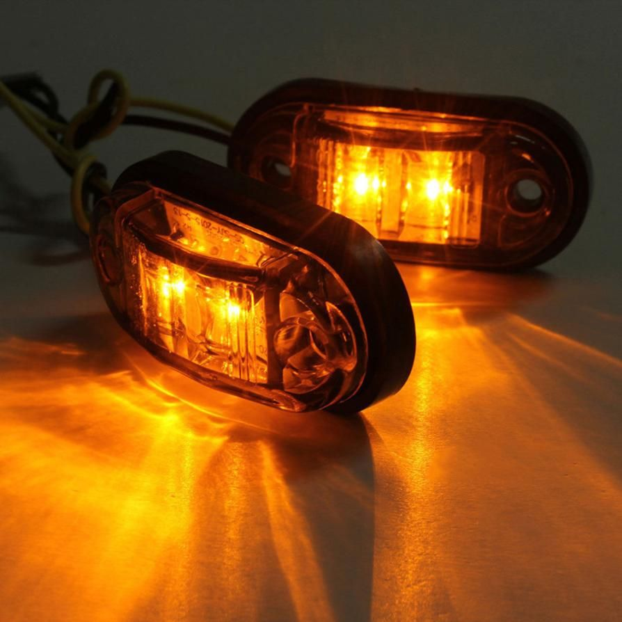 Lamp 2x12 V 24 V Tow Truck Side Marker Light Led Submersible Car Light Source Brake Signal Lamps Jun16 Car Lights Lamp Light Led Lights