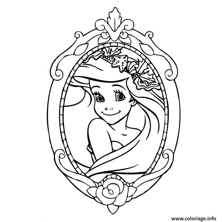 Coloriage Princesse Ariel