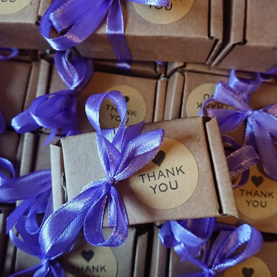 Small thank you gift for your wedding guests soap favors