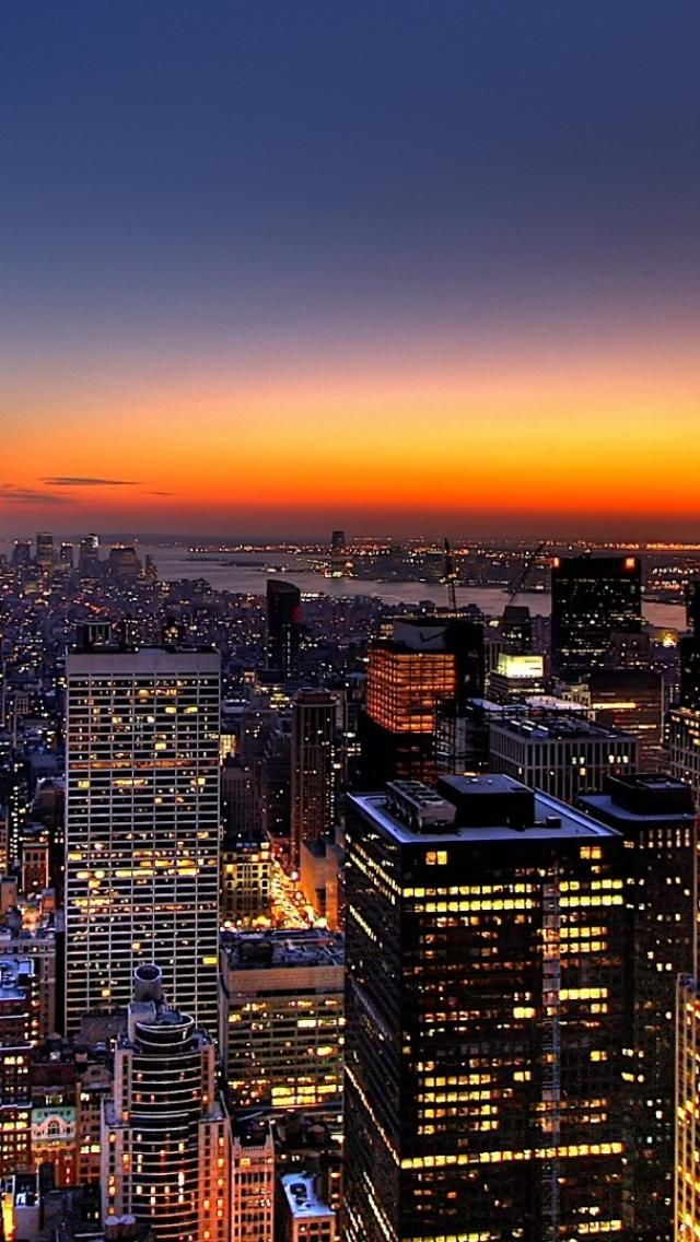 夜景 ニューヨーク アメリカ 風景の壁紙 スマホ壁紙 Iphone待受画像ギャラリー 風景の壁紙 都市景観 風景