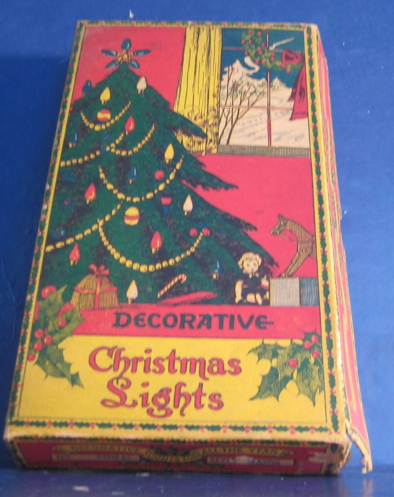 vintage decorative christmas light c6 series christmas lights in box and working