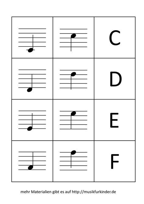 Notenmemory / Notenkärtchen - Musik für Kinder