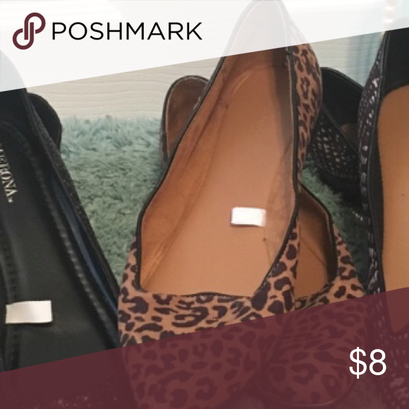 Cheetah flats🇺🇸SALE TODAY 🇺🇸 Worn once Shoes Flats & Loafers