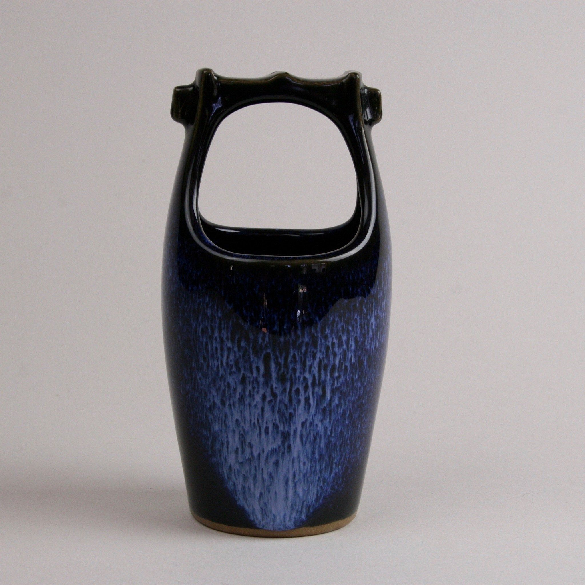 Blue Waterfall Stoneware Vase