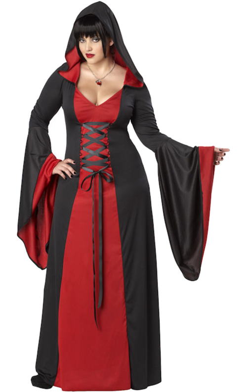 Look mysterious this Halloween with the Adult Women's Red