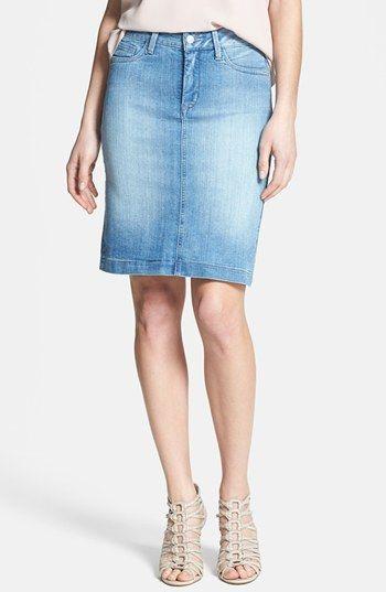 NYDJ 'Rebecca' Stretch Denim Skirt (Palos Verde) (Petite ...