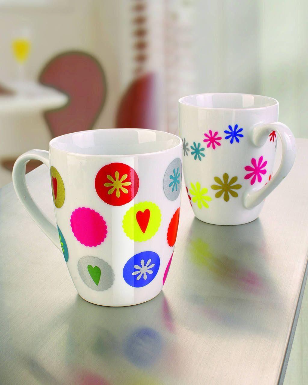 Tasse/Color-Dekor mit Motivlochern - creadoo.com