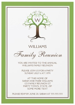 Awesome Family Reunion Invitations | ... Heart Tree Family Reunion Invitation In  Green And Brown Inside Family Reunion Invitation Cards
