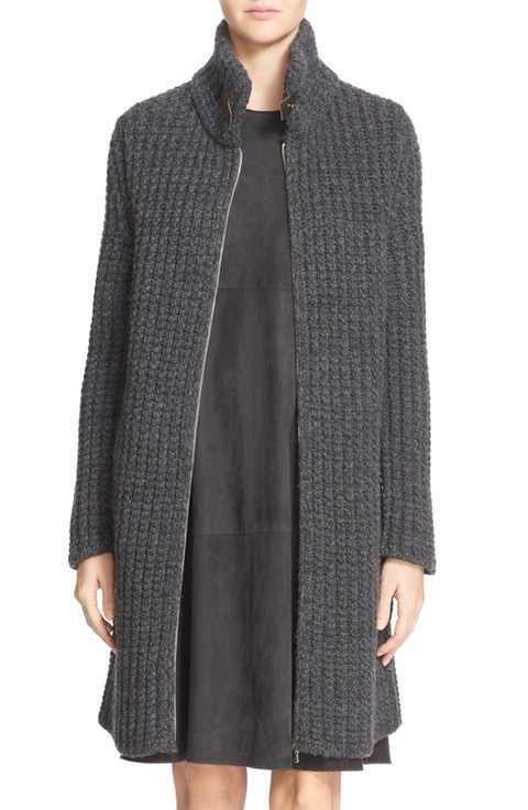Fabiana Filippi Gauge Knit Cashmere Sweater Jacket | Knitwear ...