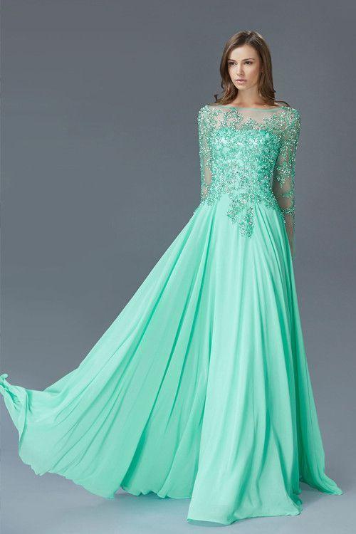 Stylish #Modest Amazing Fashion Looks   Modest prom dresses ...
