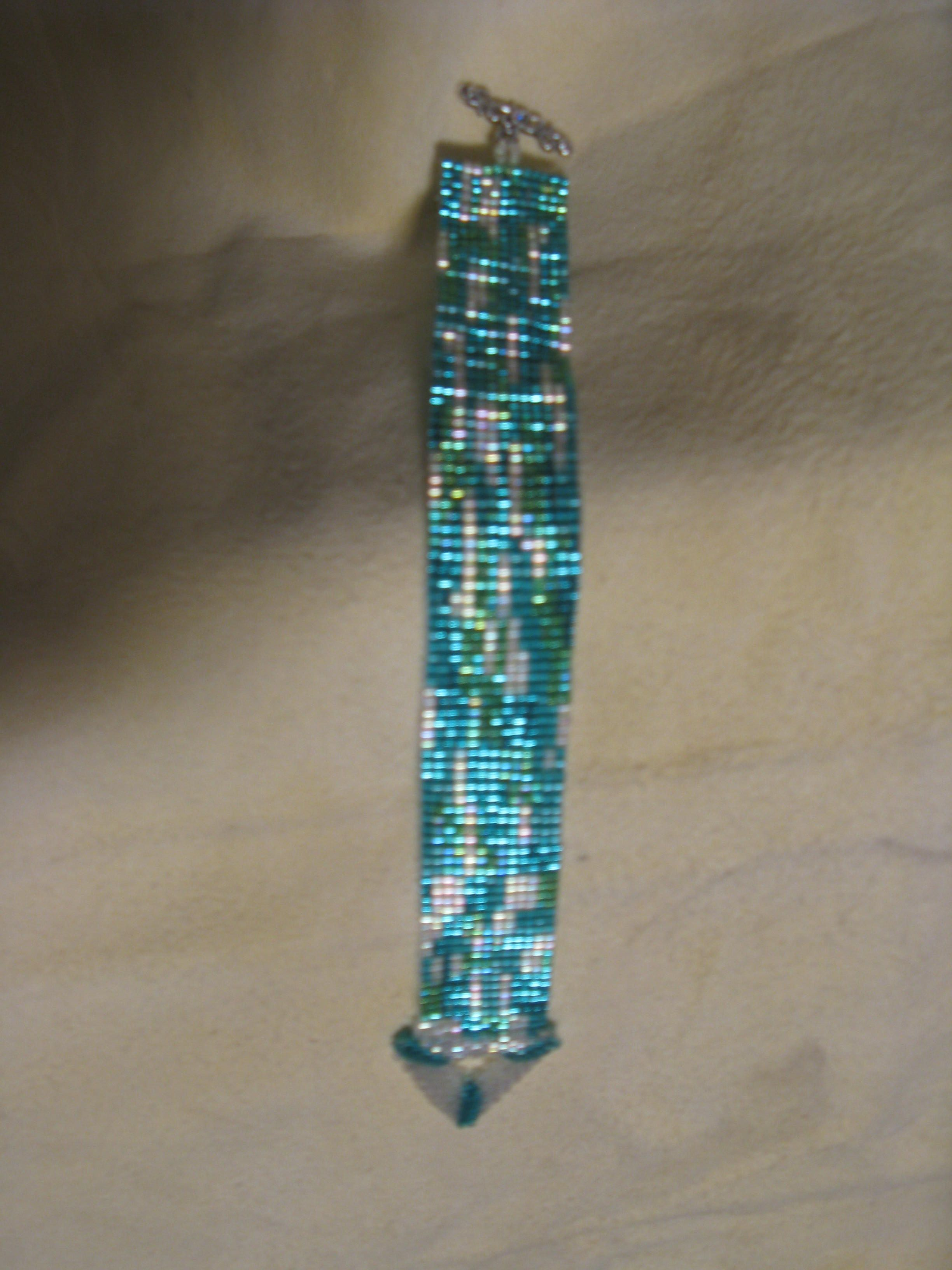 A bracelet I made for my mother. She loves these colors,
