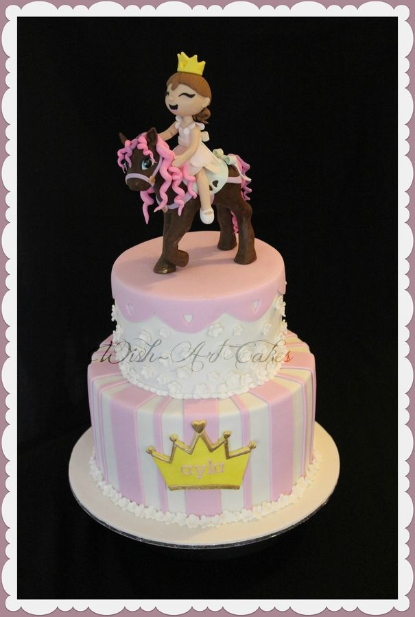 Princess Pony Cake LOVE THE CROWN for Edens Cake Edens