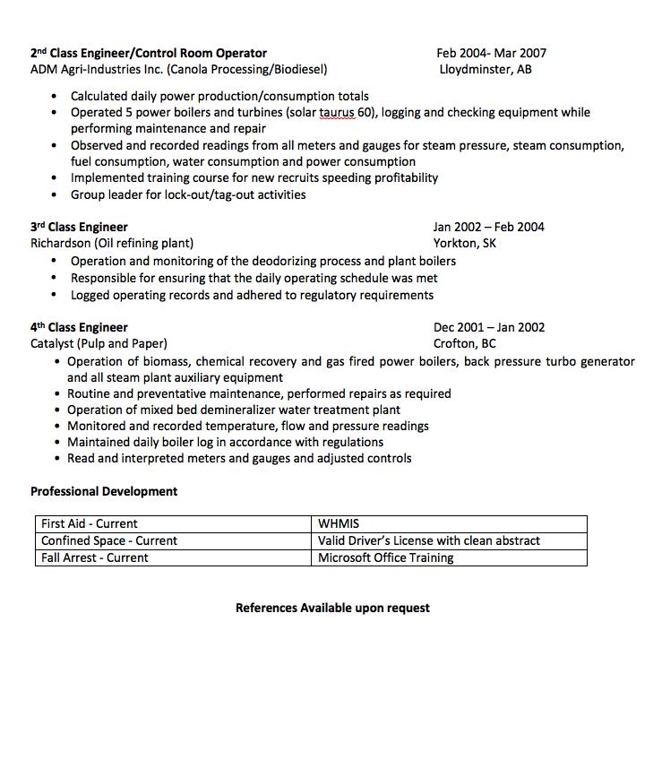 Power Engineer Resume Sample Free Resume Sample Resume Template Examples Free Resume Samples Sample Resume Templates