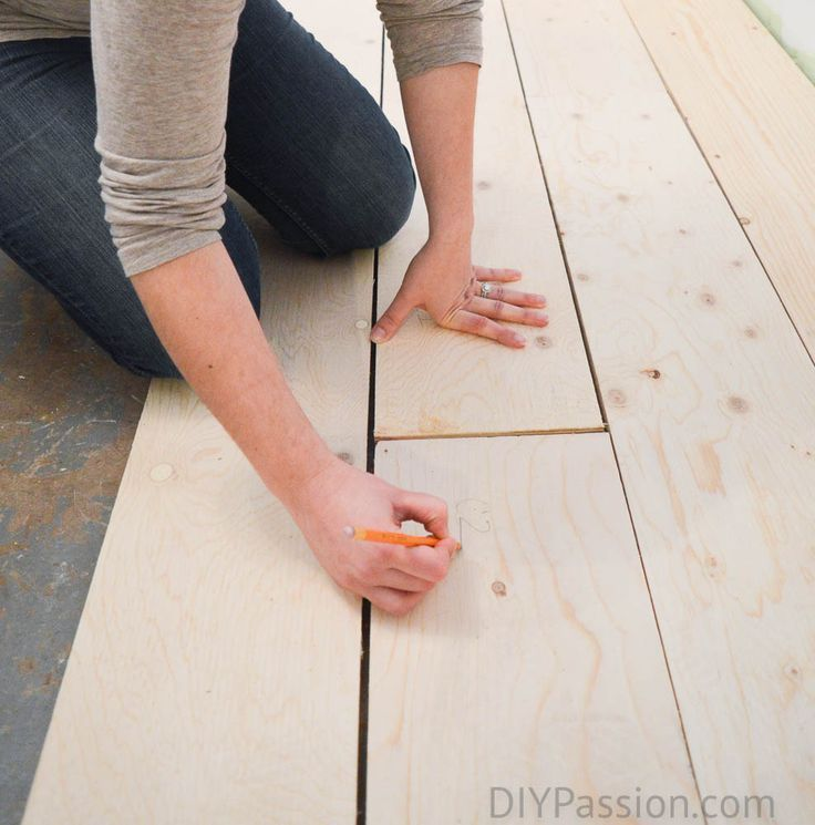 How to Update Concrete Floors for a Rustic Look Plywood