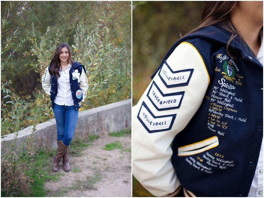 Senior Post with Letterman Jacket | Laura Hernandez Photography ...