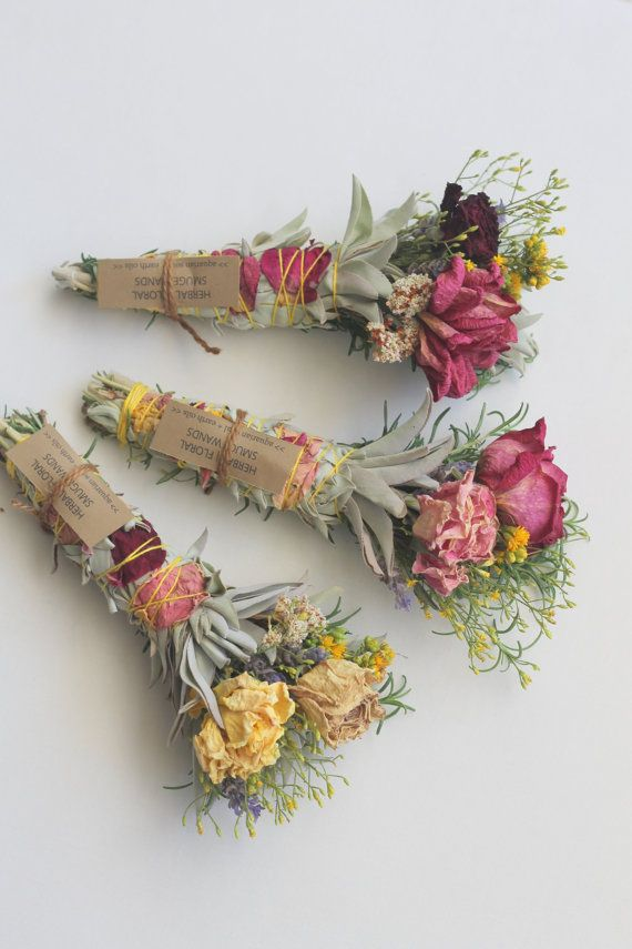 wreaths smoke kits burn wands Custom Botanical Gift Wrapping for bouquets spa items and more