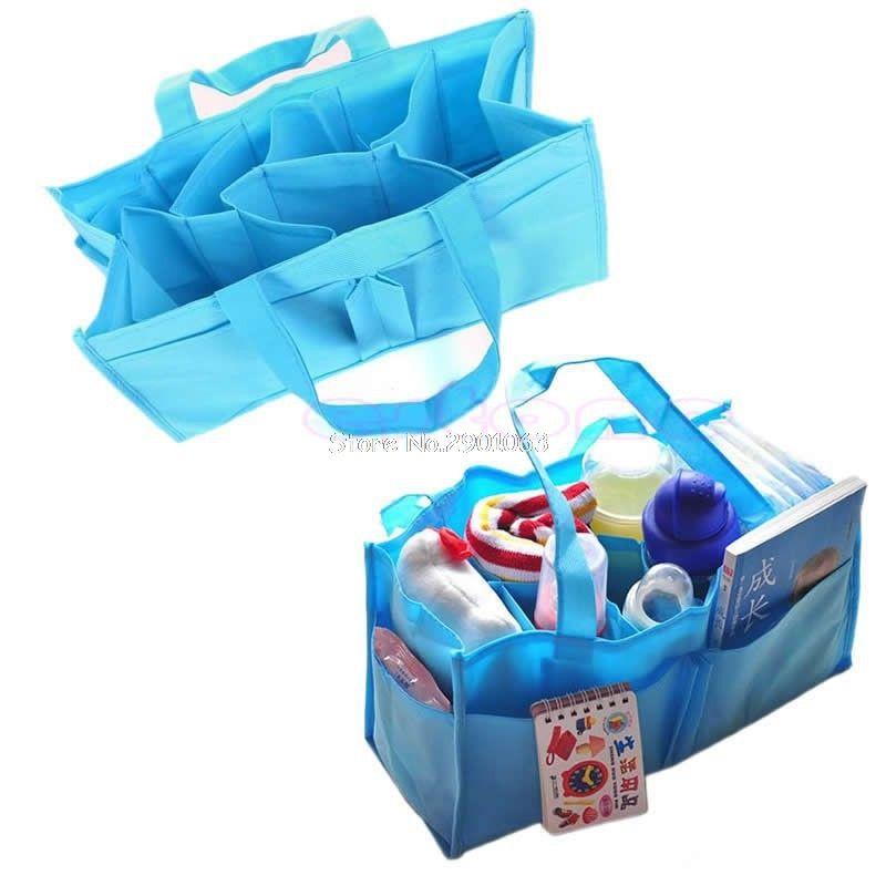 Practical Mother Handbag Baby Diaper Nappy Bag Milk Bottle Storage Organizer