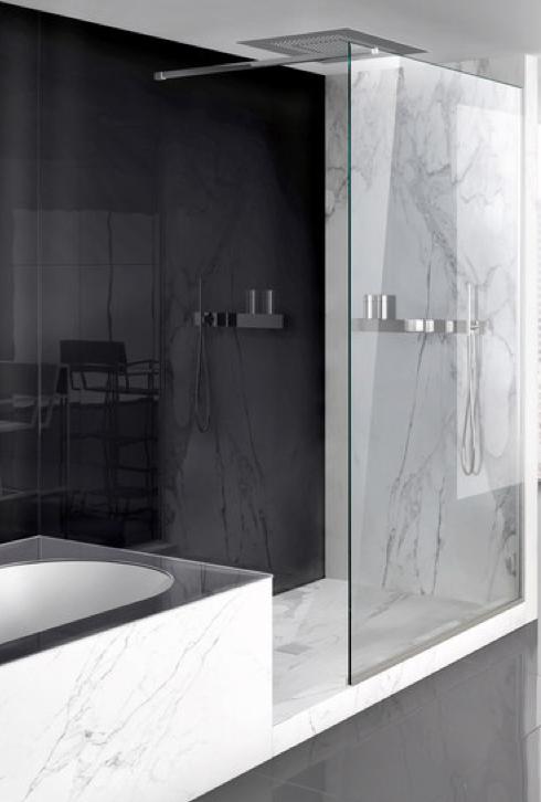 Sleek Bathroom Design Lama Shower Screen System By Makro