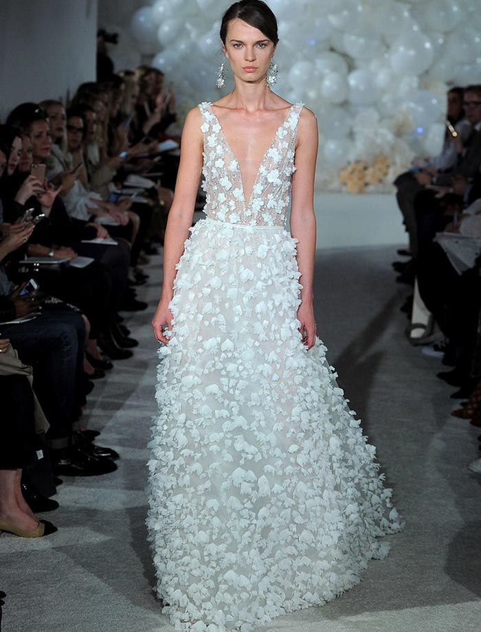 Unique The Biggest Wedding Dress Trends From Spring Bridal Fashion Week D Cut Spring Florals