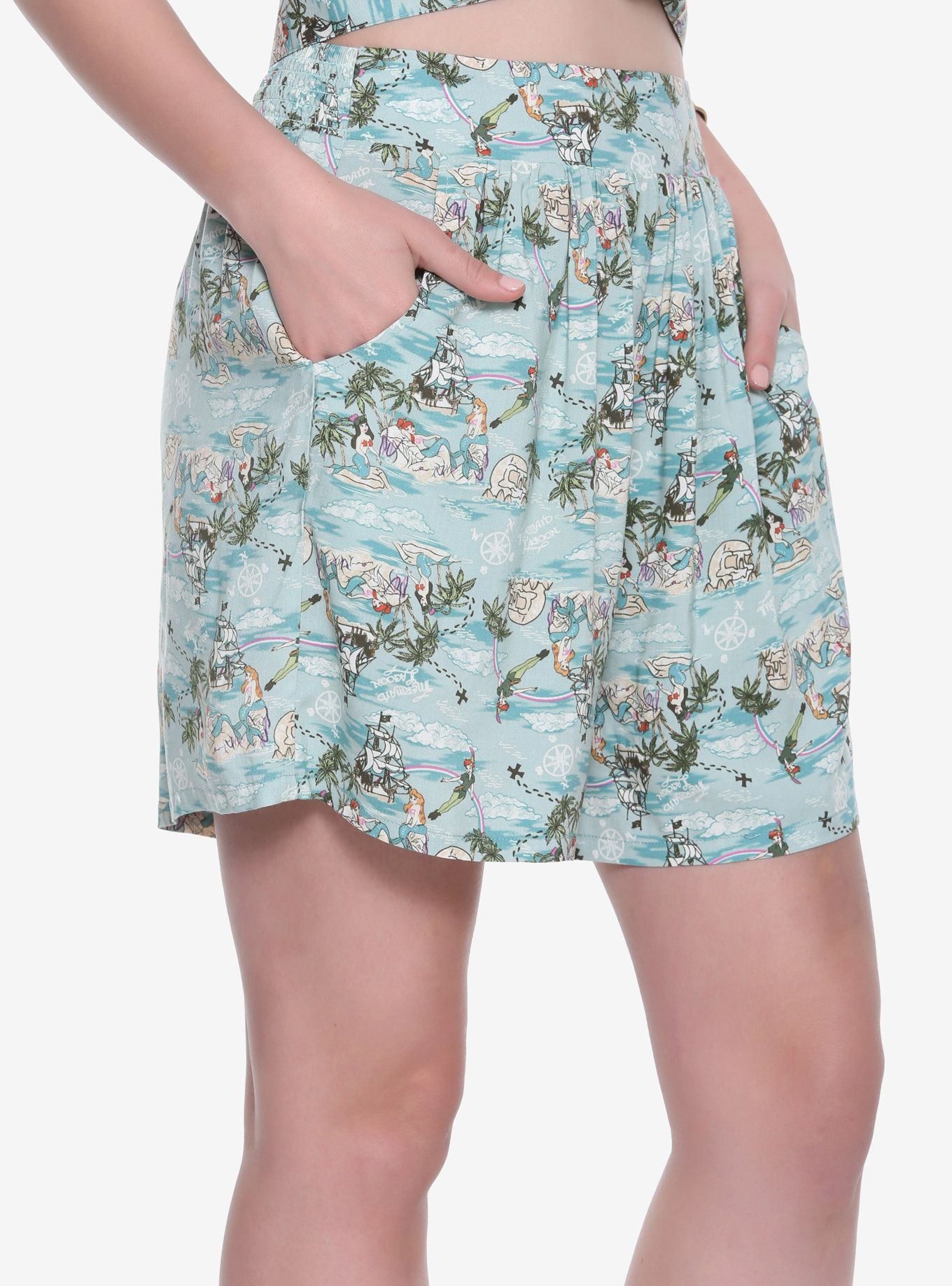 579875fd740 These challis shorts from Disney are all the proof we need! The  high-waisted flowy shorts have an allover print of Mermaid Lagoon from Peter  Pan ...