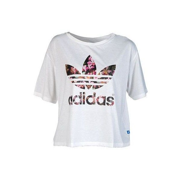 adidas Relaxed fit tee Short sleeves Crew neck with ribbed collar Floral  adidas logo graphic Cotton